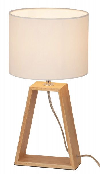 Tischlampe Holz buche Freya M E14