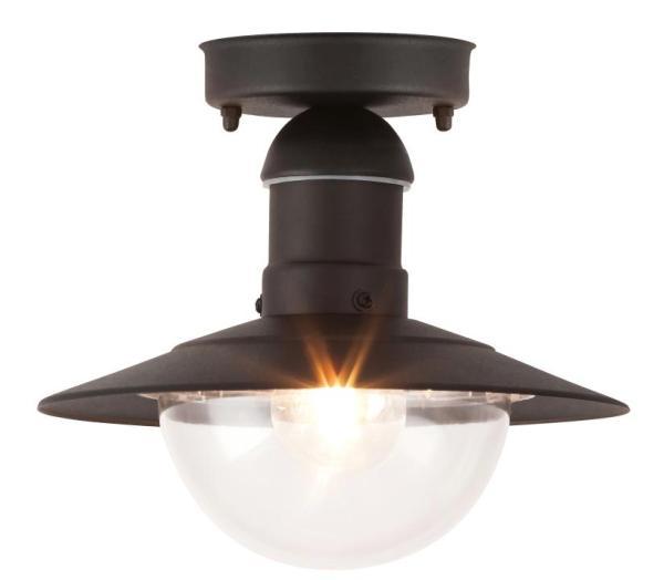Oslo Außendeckenleuchte klassisch Metall/Kunststoff schwarz Außenleuchte Deckenlampe Außenlampe E27