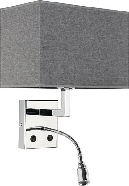 Wandleuchte modern grau aus Metall E14