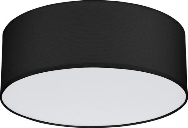 Deckenleuchte RONDO schwarz aus Stoff/Metall/PVC Ø380mm