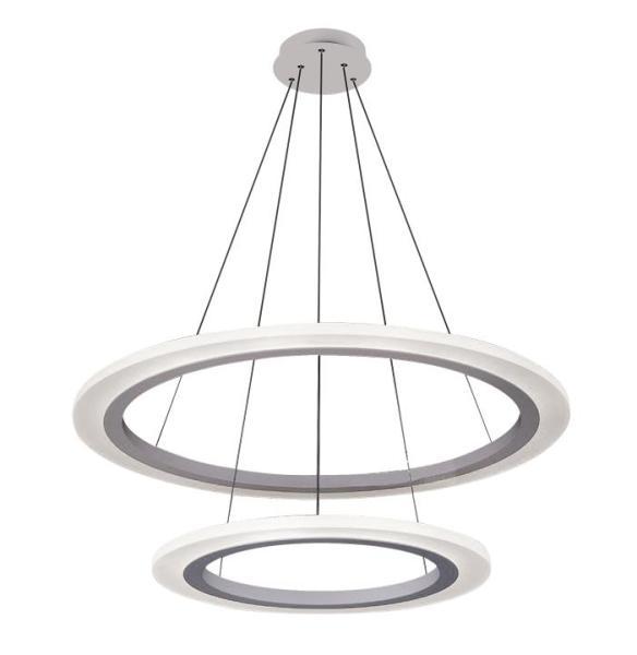 LED Pendelleuchte Adrienne 62W silber aus Metall