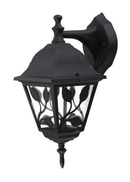 Haga Außenwandleuchte klassisch Metall/Glas schwarz Außenlampe Wandlampe E27 100W