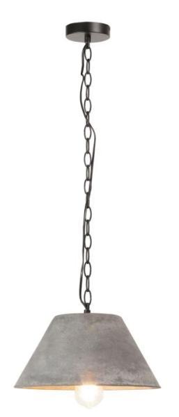 Pendelleuchte grau aus Metall Industriedesign E27 Duncan