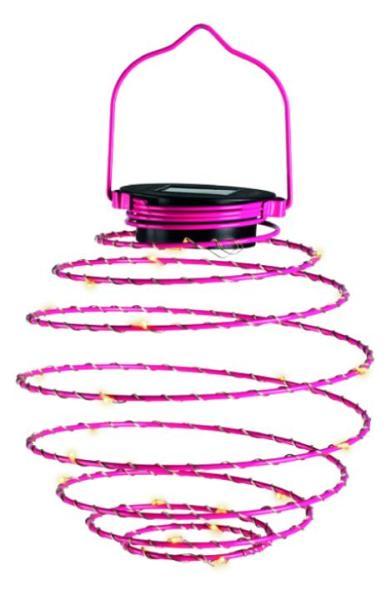LED Mini-Solar-Spirale pink