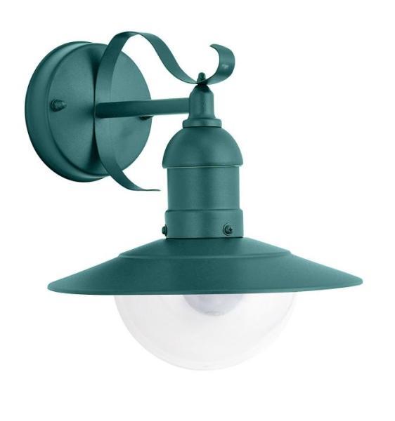 Oslo Außenwandleuchte klassisch Metall/Kunststoff grün Außenlampe Wandlampe E27 60W
