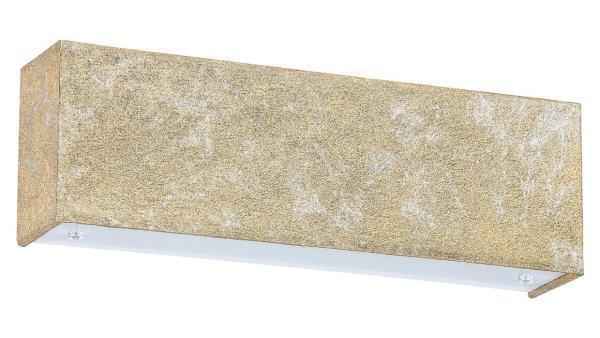 LED Wandleuchte goldfoliert/weiss LED-Board 6W A+ 3000K 420lm IP20