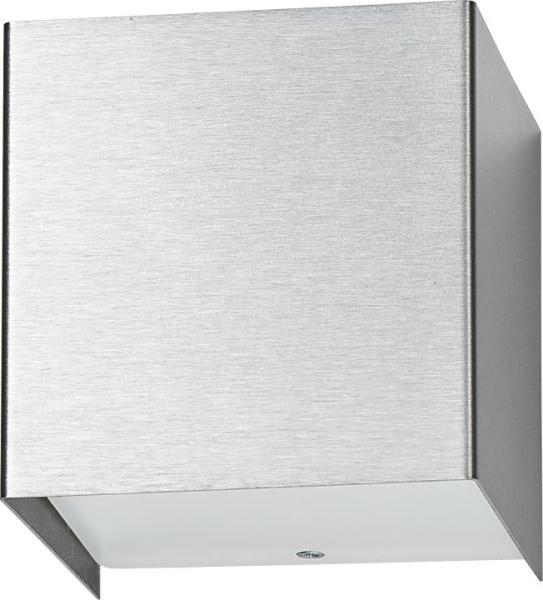 Wandleuchte modern silber aus Glas G9