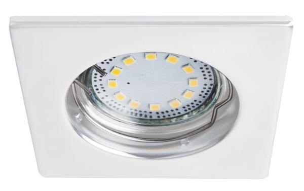 LED Einbaustrahler Set warmweiß GU10 eckig weiß