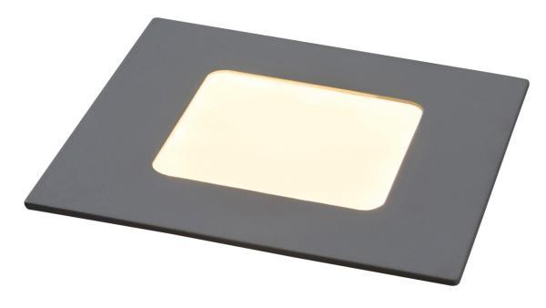 LED Einbauleuchte LOIS mattweiß naturalweiß quadratisch 85mm