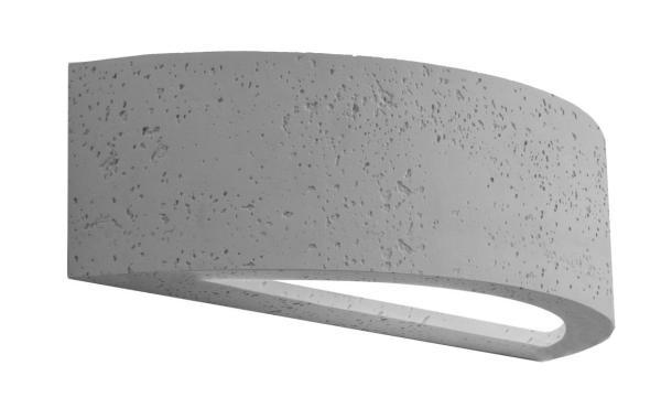 Wandleuchte modern grau aus Glas