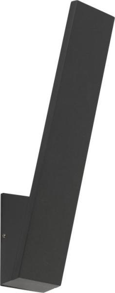 ZOA Außenwandleuchte modern Aluminium/Glas schwarz Außenlampe Wandlampe LED-Board 12W