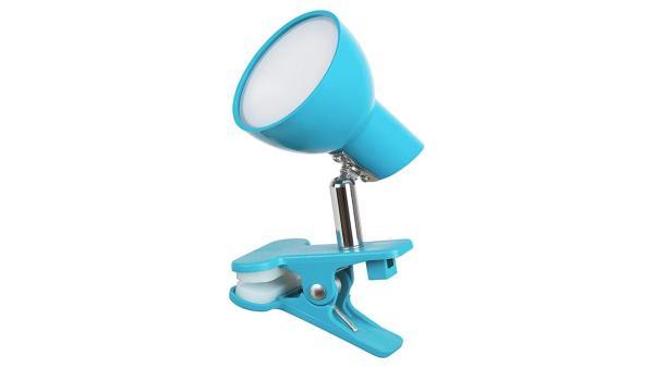 LED Tischleuchte blau Klemmleuchte