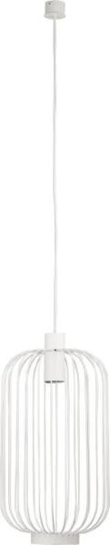 CAGE Pendelleuchte modern Metall weiß Hängelampe Pendellampe Deckenlampe GU10 35W