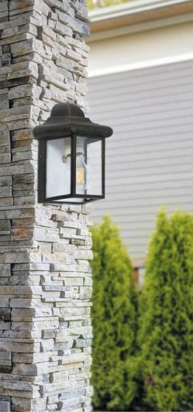 Norvich Außenwandleuchte klassisch Aluminium/Glas antikgold Außenlampe Wandlampe E27 60W