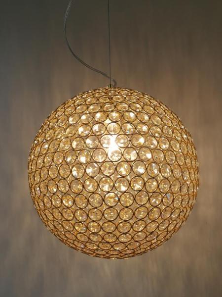 Pendelleuchte gold aus Metall modern E27 LENNARD