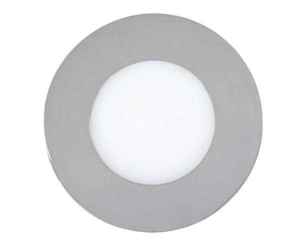 LED Einbauleuchte LOIS chrom warmweiß Ø90mm
