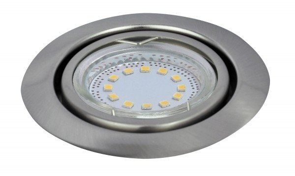 LED Einbaustrahler Set warmweiß GU10 chrom matt beweglich