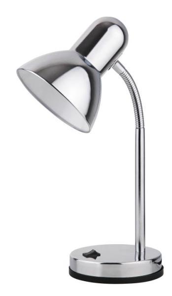Schreibtischlampe E27 chrom Metall Clark