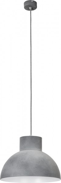Pendelleuchte grau aus Metall Industriedesign E27 WORKS
