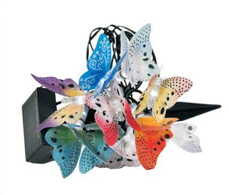 LED Solar-Lichterkette Schmetterling Lichterkette Polyester