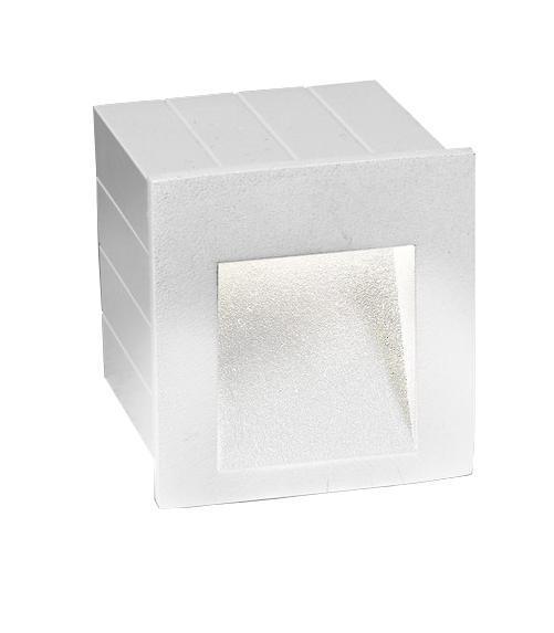 STEP Außeneinbauleuchte modern Aluminium weiß Einbaustrahler Außenlampe LED-Board 3W