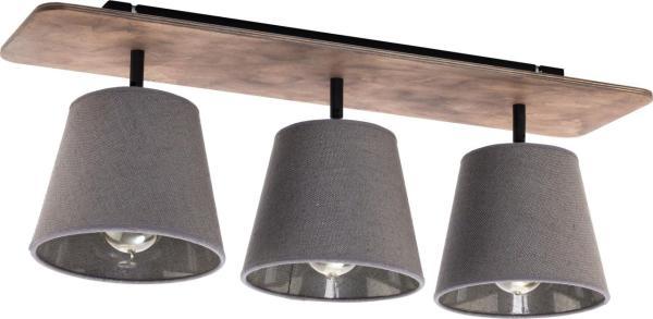 Deckenleuchte aus Holz 3 flammig braun E27