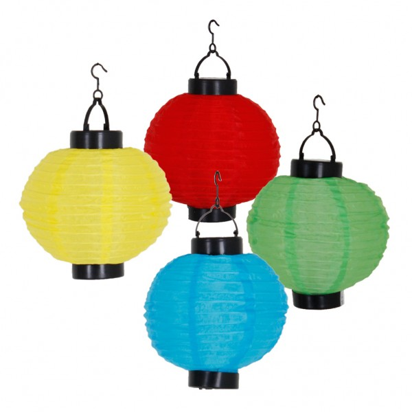 Solar-Lampion LED Dekoleuchte Polyester wasserfest