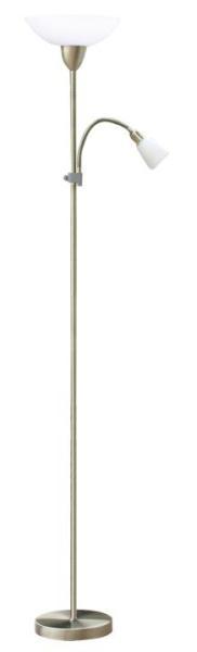 Stehlampe weiß mit Leselampe Diana E27