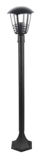 Marseille Wegeleuchte klassisch Metall/Kunststoff schwarz Außenleuchte Standleuchte Pollerleuchte E2