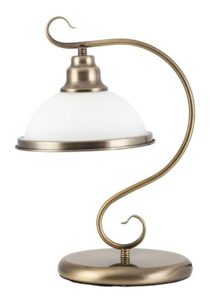 Tischlampe Glas antik bronze E27 Elisett