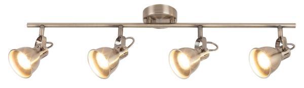 Deckenleuchte aus Metall Ralph 4 flammig bronze GU10