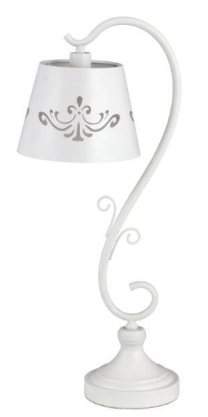 Tischlampe weiß Metall retro E14 Anna