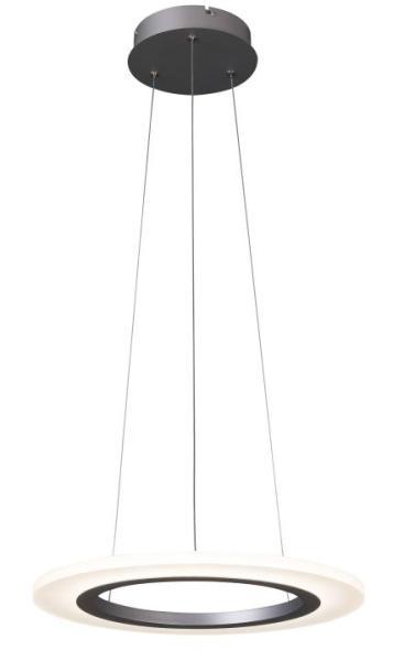 LED Pendelleuchte 20W Adrienne silber aus Metall