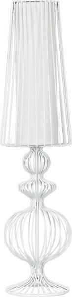 Moderne Tischleuchte weiß Textil E27