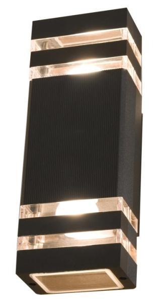 RIO Außenwandleuchte modern Aluminium/PC anthrazit Außenlampe Wandlampe E27 40W