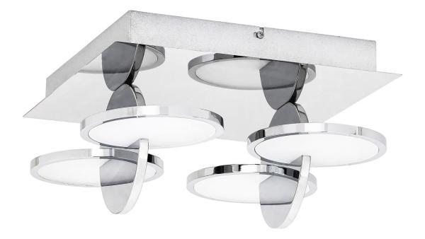 LED Deckenleuchte chrom/Opalglas LED-Board 33W A 3000K 2200lm IP20