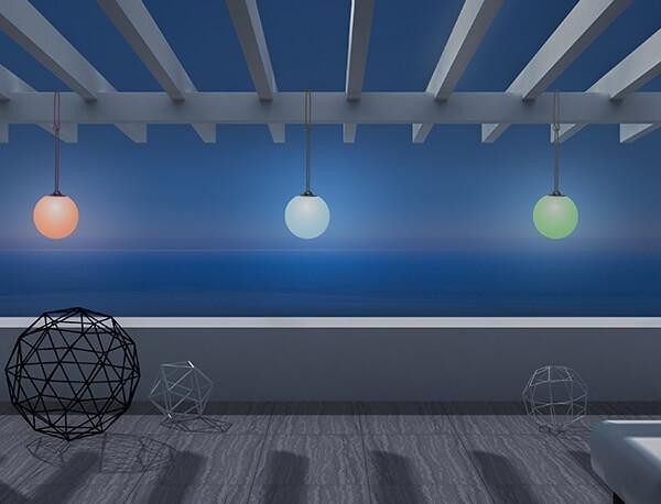 Hängeleuchte LED beige wetterfest batteriebetrieben