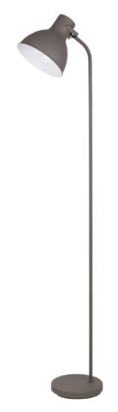 Stehlampe grau Derek Industriedesign E27