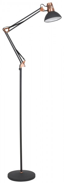 Stehlampe schwarz Gareth Metall E27