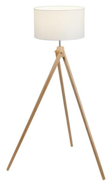 Stehlampe Holz Dreibein weiß Nordic-Design