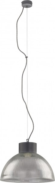 Pendelleuchte aus Glas grau 1 flammig E27 FACTORY