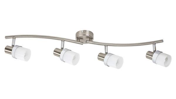Deckenleuchte chrom matt/chrom/Opalglas Metall Glas E14 4X MAX 40W IP20