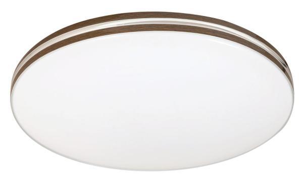 LED Deckenleuchte 18W 1350lm weiß/walnuss neutralweiß 4000K