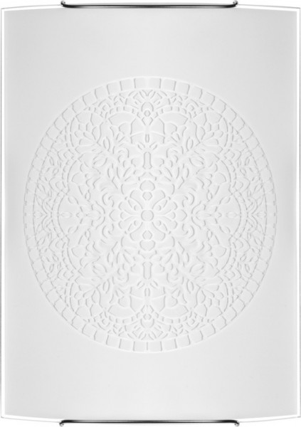 Wandleuchte weiß aus Glas ROSETTE E27