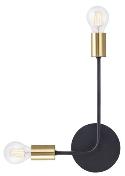 Wandleuchte schwarz aus Metall Lanny E27