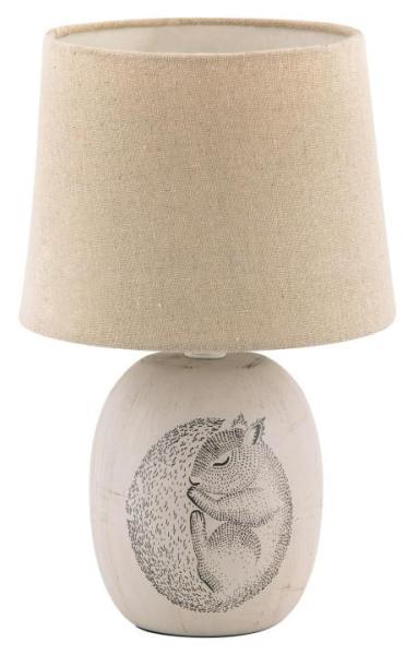 Tischlampe Keramik braun E14 Dorka