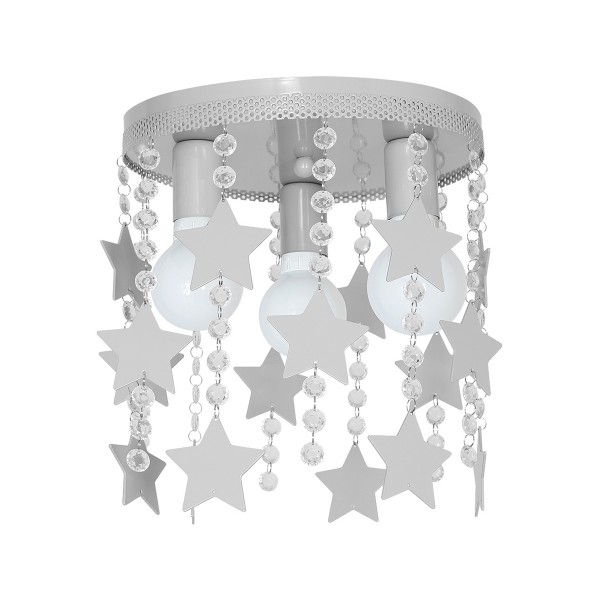 Kinderzimmerlampe Mädchen Sterne 60W E27 3-flammig