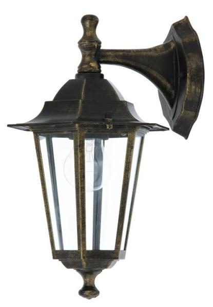 Velence Außenwandleuchte klassisch Metall/Glas antikgold Außenlampe Wandlampe E27 60W