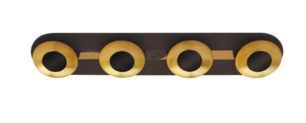 LED Deckenleuchte 5W braun/gold warmweiß