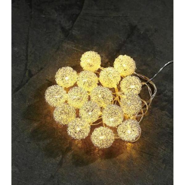 LED Lichterkette Flocke Kunststoff/Metalldraht